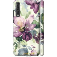 Чехол на Huawei P20 Pro Акварель цветы