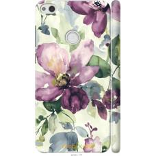 Чехол на Huawei P8 Lite (2017) Акварель цветы