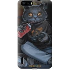 Чехол на Huawei Honor 6 Plus gamer cat