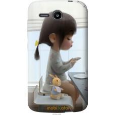 Чехол на Huawei Ascend Y600 Милая девочка с зайчиком
