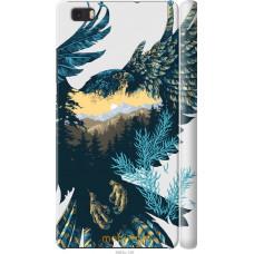 Чехол на Huawei Ascend P8 Lite Арт-орел на фоне природы