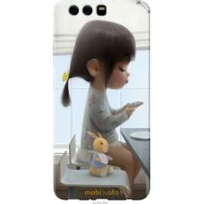 Чехол на Huawei P10 Plus Милая девочка с зайчиком