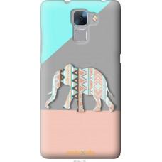 Чехол на Huawei Honor 7 Узорчатый слон