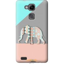 Чехол на Huawei Ascend Mate 7 Узорчатый слон