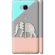 Чехол на Huawei Honor 5X Узорчатый слон