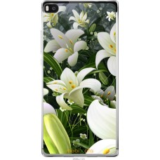 Чехол на Huawei Ascend P8 Лилии белые