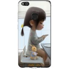 Чехол на Huawei P10 Lite Милая девочка с зайчиком