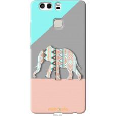 Чехол на Huawei P9 Plus Узорчатый слон