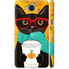 Чехол на Huawei Y5 2017 Осенний кот