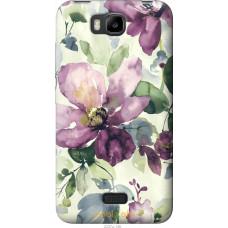Чехол на Huawei Ascend Y5C Акварель цветы