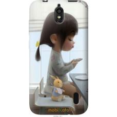 Чехол на Huawei Ascend Y625 Милая девочка с зайчиком