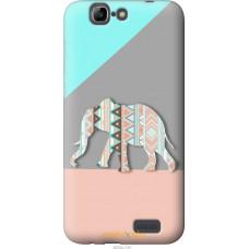 Чехол на Huawei Ascend G7 Узорчатый слон