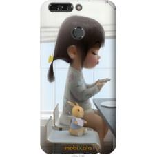 Чехол на Huawei Honor V9 | Honor 8 Pro Милая девочка с зайчи