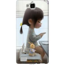 Чехол на Huawei Honor 3C Милая девочка с зайчиком