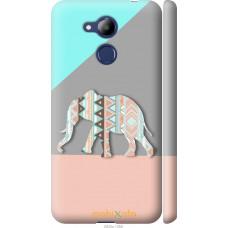 Чехол на Huawei Honor 6C Pro Узорчатый слон