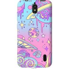 Чехол на Huawei Ascend Y625 'Розовый космос