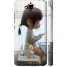 Чехол на Huawei Y6 Pro Милая девочка с зайчиком