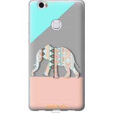 Чехол на Huawei Honor Note 8 Узорчатый слон