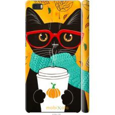 Чехол на Huawei Ascend P8 Lite Осенний кот