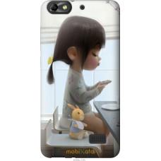 Чехол на Huawei Honor 4C Милая девочка с зайчиком