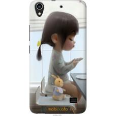 Чехол на Huawei G620S Милая девочка с зайчиком