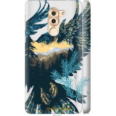 Чехол на Huawei Mate 9 Lite Арт-орел на фоне природы