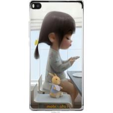 Чехол на Huawei Ascend P8 Милая девочка с зайчиком