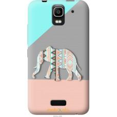 Чехол на Huawei Ascend Y3C Узорчатый слон