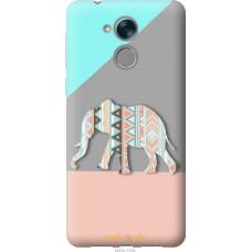 Чехол на Huawei Honor 6C Узорчатый слон