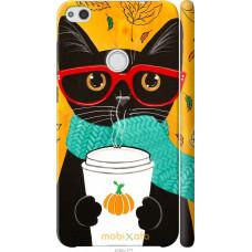 Чехол на Huawei P8 Lite (2017) Осенний кот