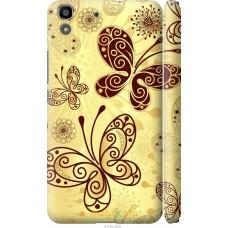 Чехол на Huawei Y6 Рисованные бабочки