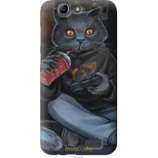 Чехол на Huawei Ascend G7 gamer cat