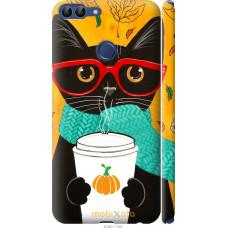 Чехол на Huawei P Smart Осенний кот