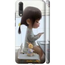 Чехол на Huawei P20 Милая девочка с зайчиком