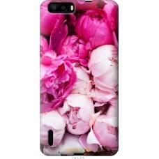 Чехол на Huawei Honor 6 Plus Розовые цветы