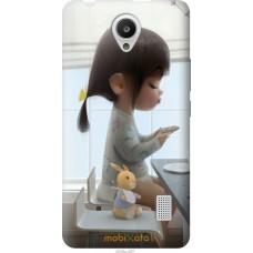Чехол на Huawei Y635 Милая девочка с зайчиком