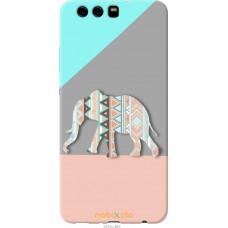Чехол на Huawei P10 Plus Узорчатый слон