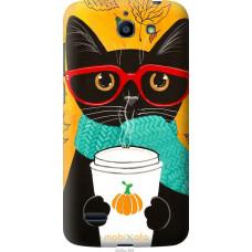 Чехол на Huawei G730 Осенний кот