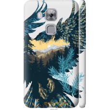 Чехол на Huawei Nova Plus Арт-орел на фоне природы
