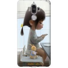 Чехол на Huawei Mate 9 Милая девочка с зайчиком