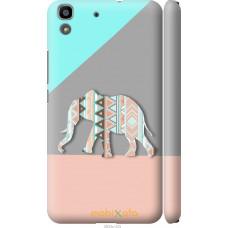 Чехол на Huawei Y6 Узорчатый слон