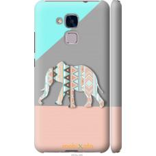 Чехол на Huawei Honor 5C Узорчатый слон