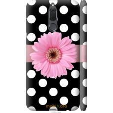 Чехол на Huawei Mate 10 Lite   Honor 9i Цветочек горошек v2