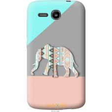 Чехол на Huawei Ascend Y600 Узорчатый слон