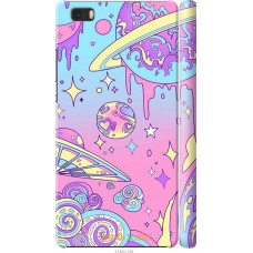 Чехол на Huawei Ascend P8 Lite 'Розовый космос