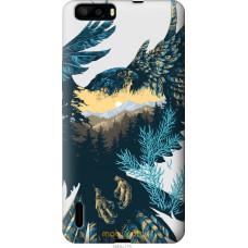 Чехол на Huawei Honor 6 Plus Арт-орел на фоне природы