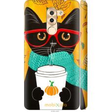 Чехол на Huawei Honor 6X Осенний кот