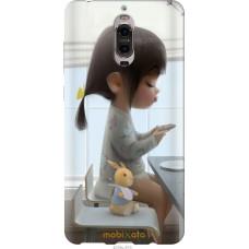 Чехол на Huawei Mate 9 Pro Милая девочка с зайчиком