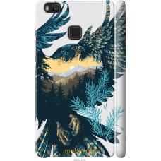 Чехол на Huawei P9 Lite Арт-орел на фоне природы