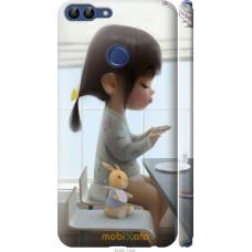 Чехол на Huawei P Smart Милая девочка с зайчиком